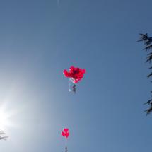Hochzeitsfotograf aus Mannheim - Fotoshooting (Herz-Luftballons)
